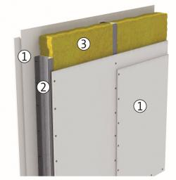 Partitions insulation scheme